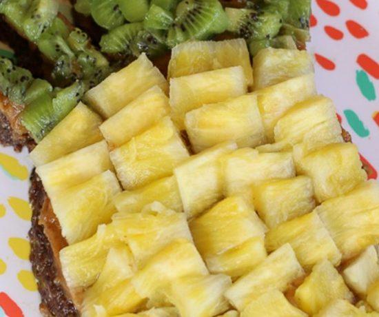 Raw Pineapple Date Nut Torte