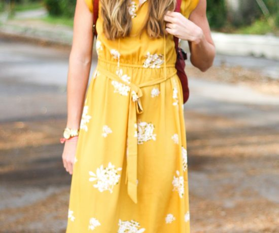 Mustard Yellow LOFT Dress