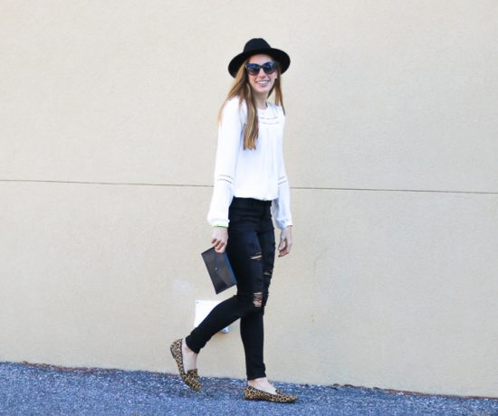 The Perfect Distressed Black Jeans