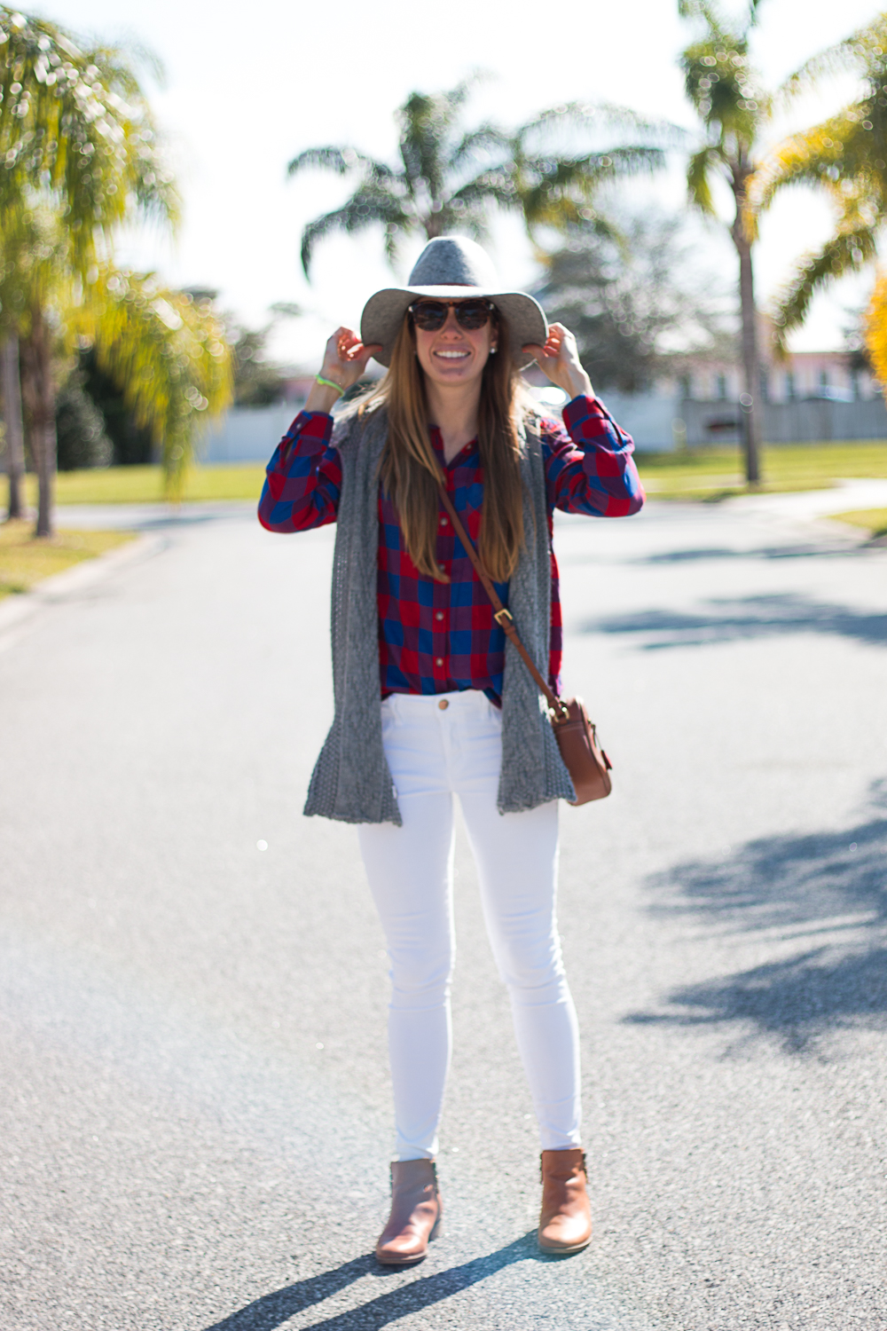 White Jeans and Plaid-1