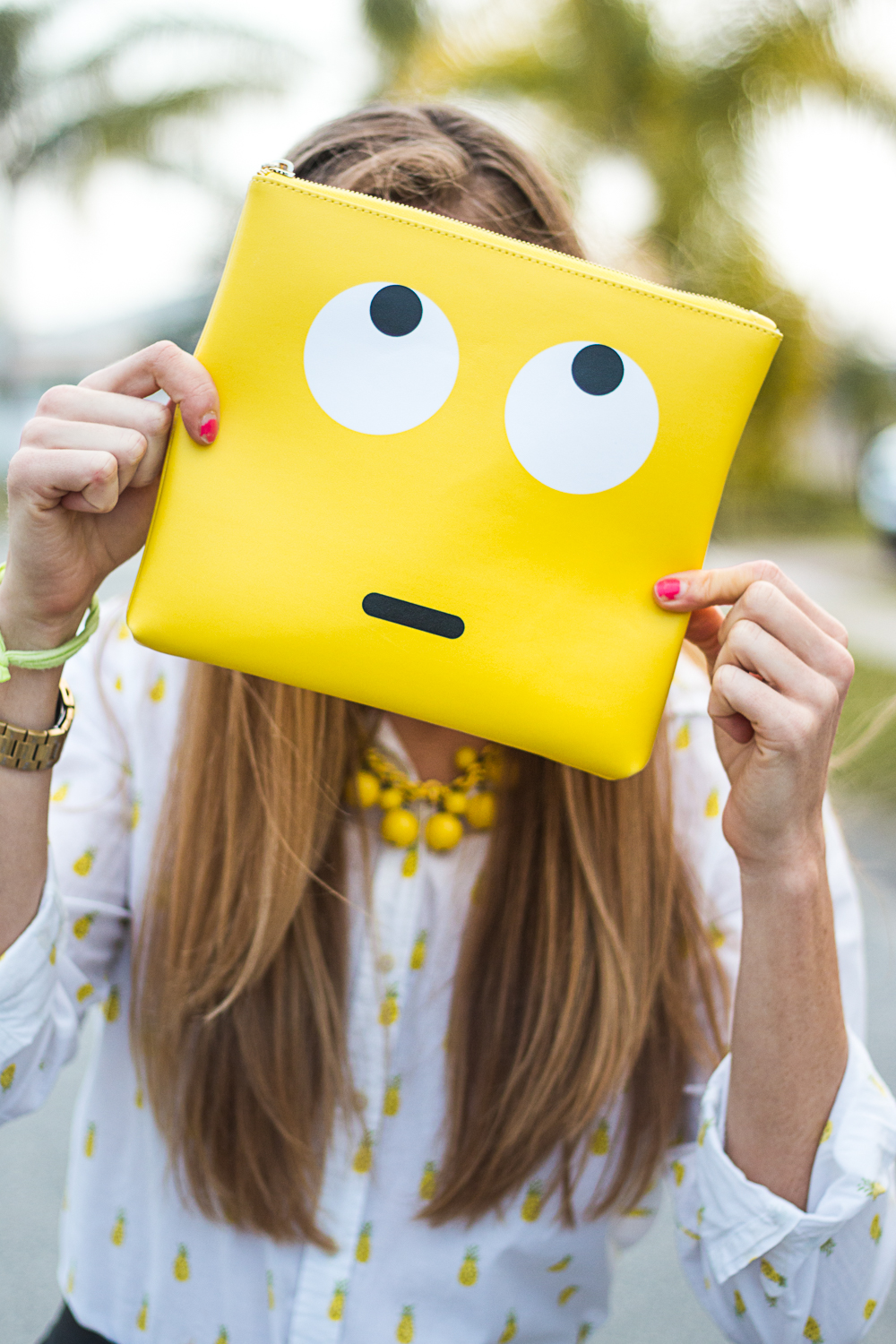 Studio DIY Yellow Emoji Clutch
