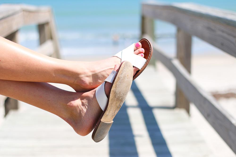 White Gap Sandals