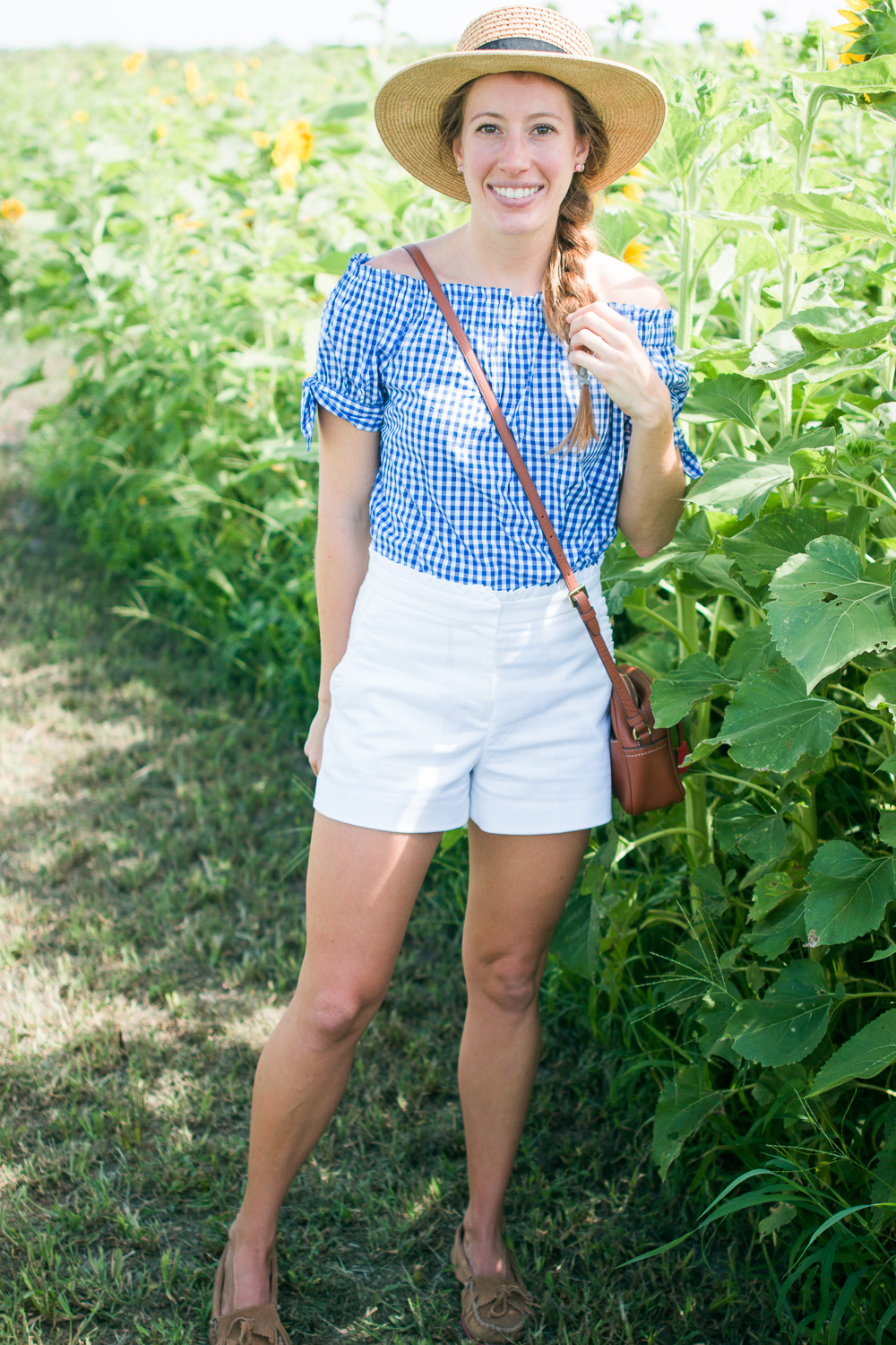 jcrew gingham top