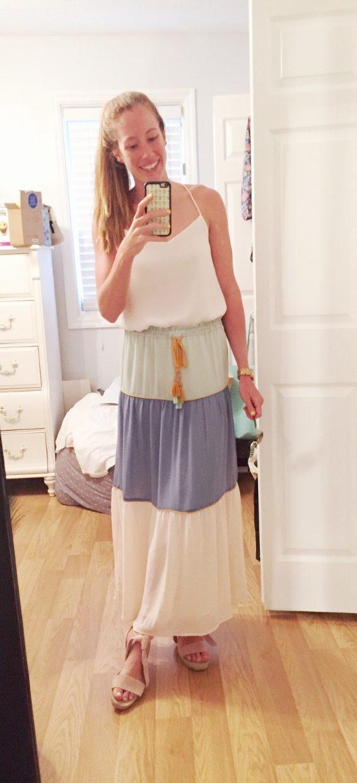 LOFT Tiered Maxi Skirt