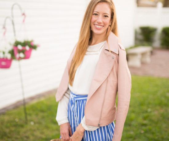 fall pink jacket