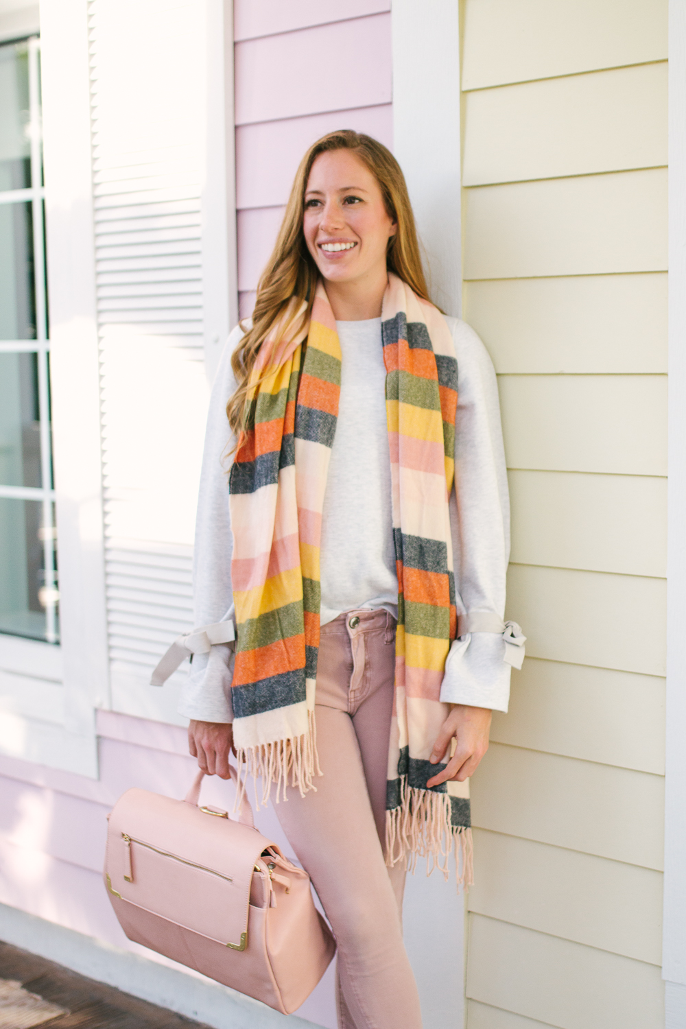 target striped scarf