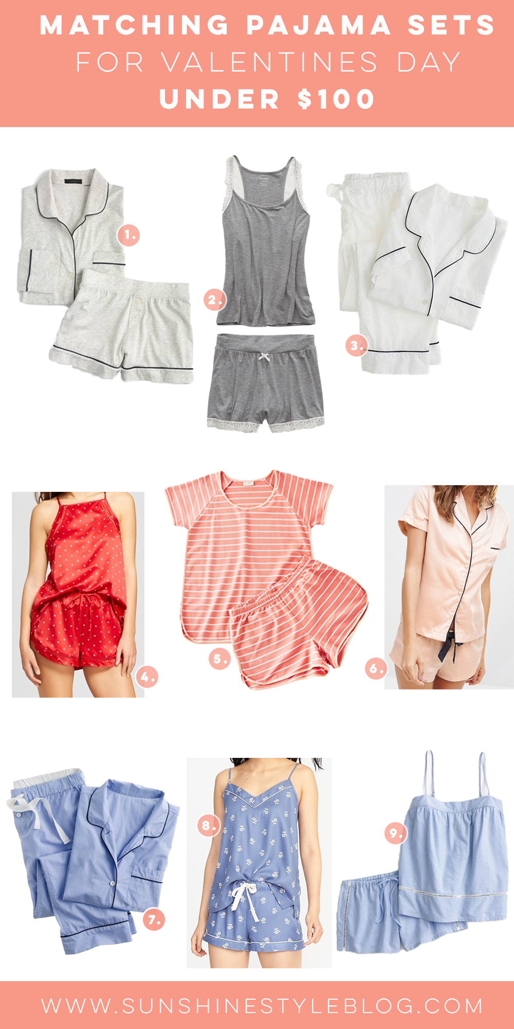 Cute and Cozy Matching Pajama Sets for Valentines DayUnder $100