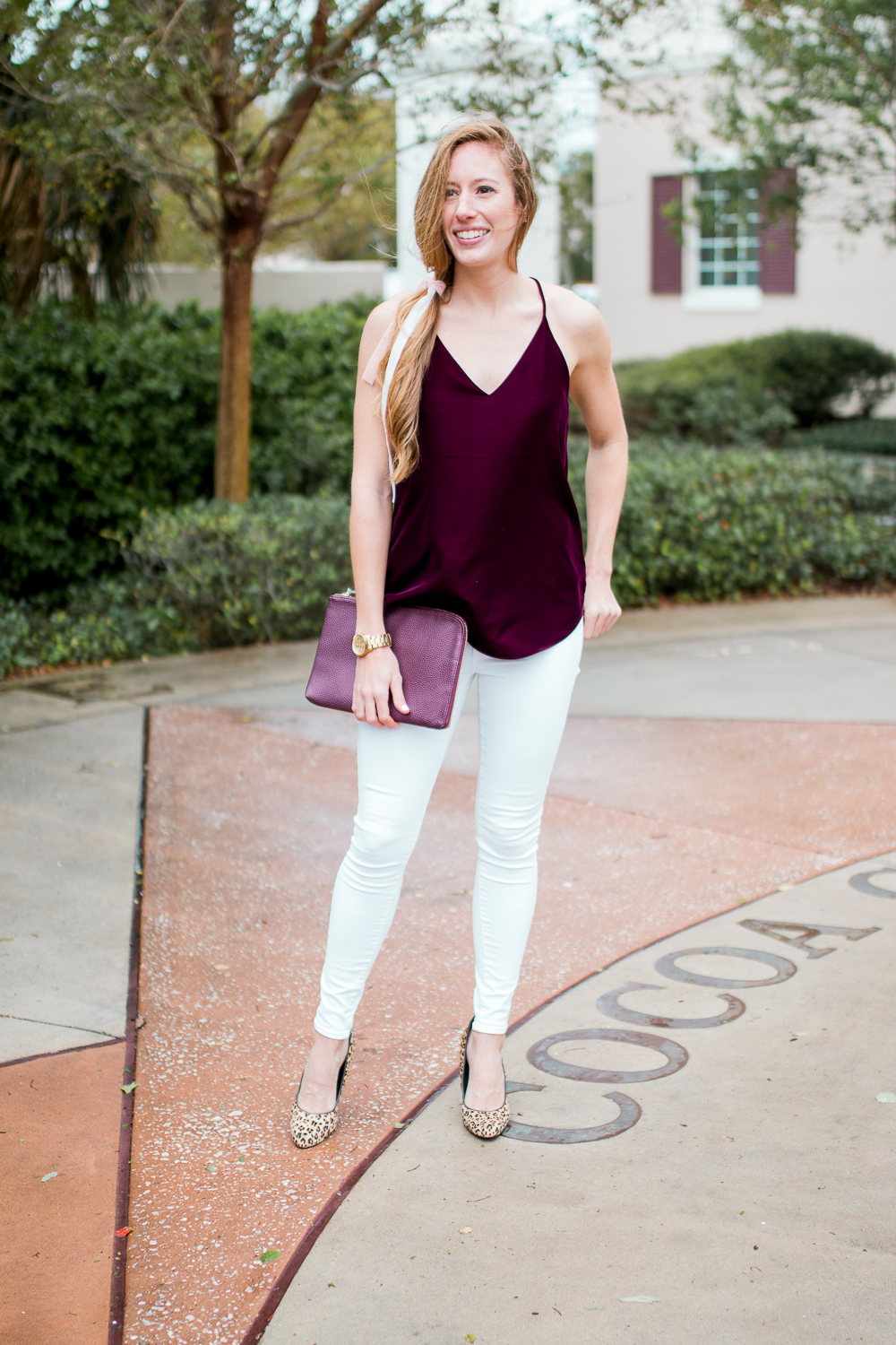 How to Style a Burgundy Velvet Top from Day to Night. Shop over 50 velvet pieces.