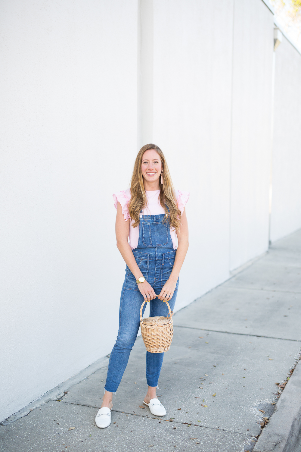 5bbc710ff04 5 Way to Style Overalls in the Spring - fashion blogger wearing Madewell  overalls