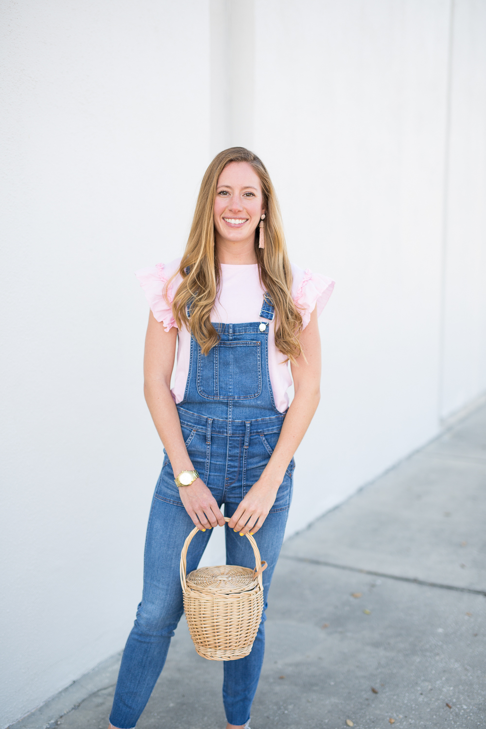 5 Ways to Style Overalls in the Spring - fashion blogger wearing Madewell overalls
