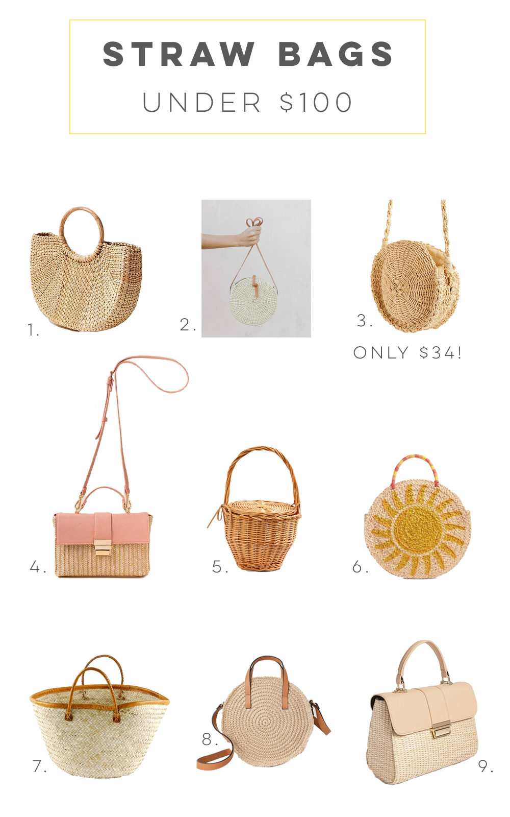 Straw Bags for Spring Under $100