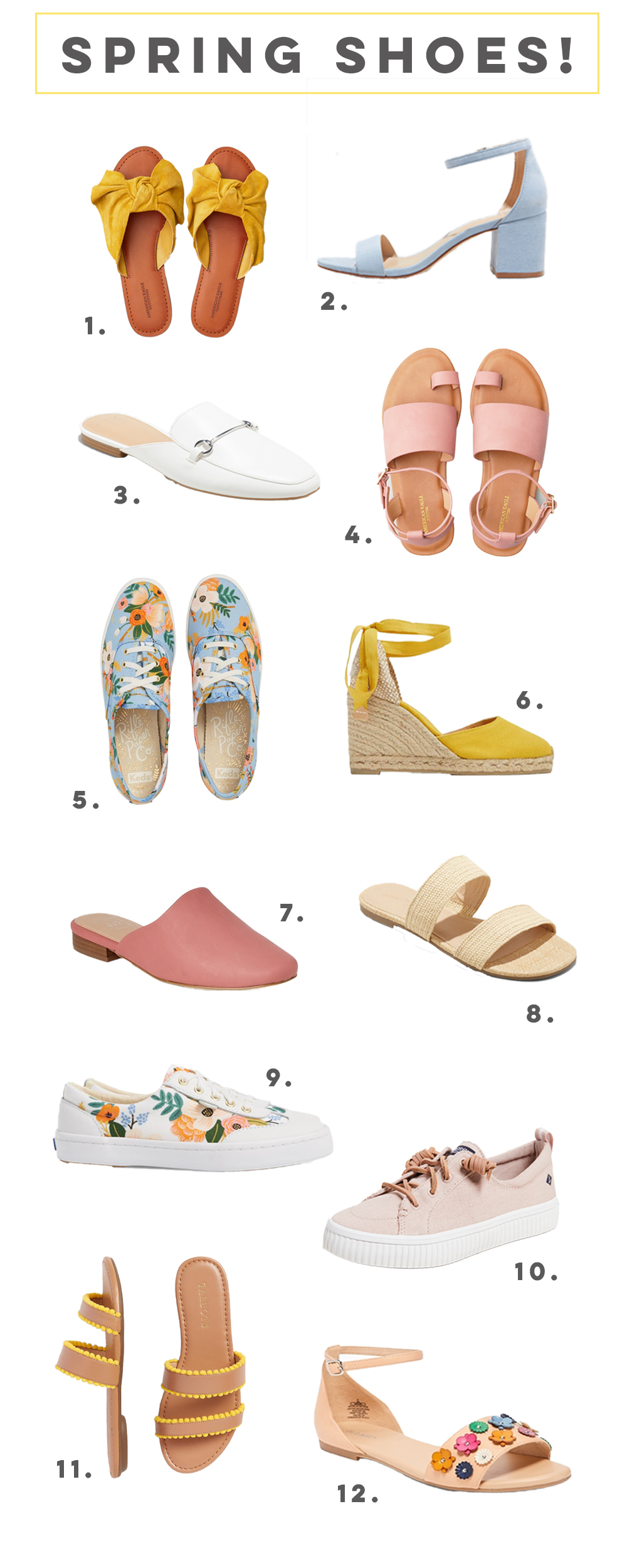 Favorite Shoes for Spring and Summer