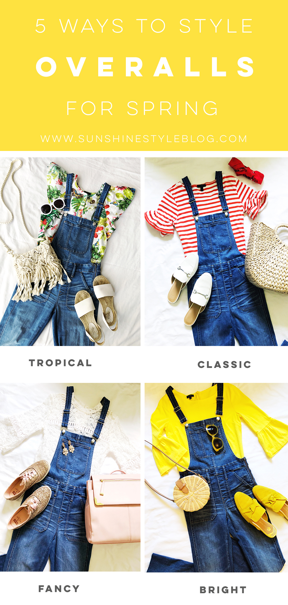 5 Ways to Style Overalls for Spring - florida fashion blogger style madewell overalls