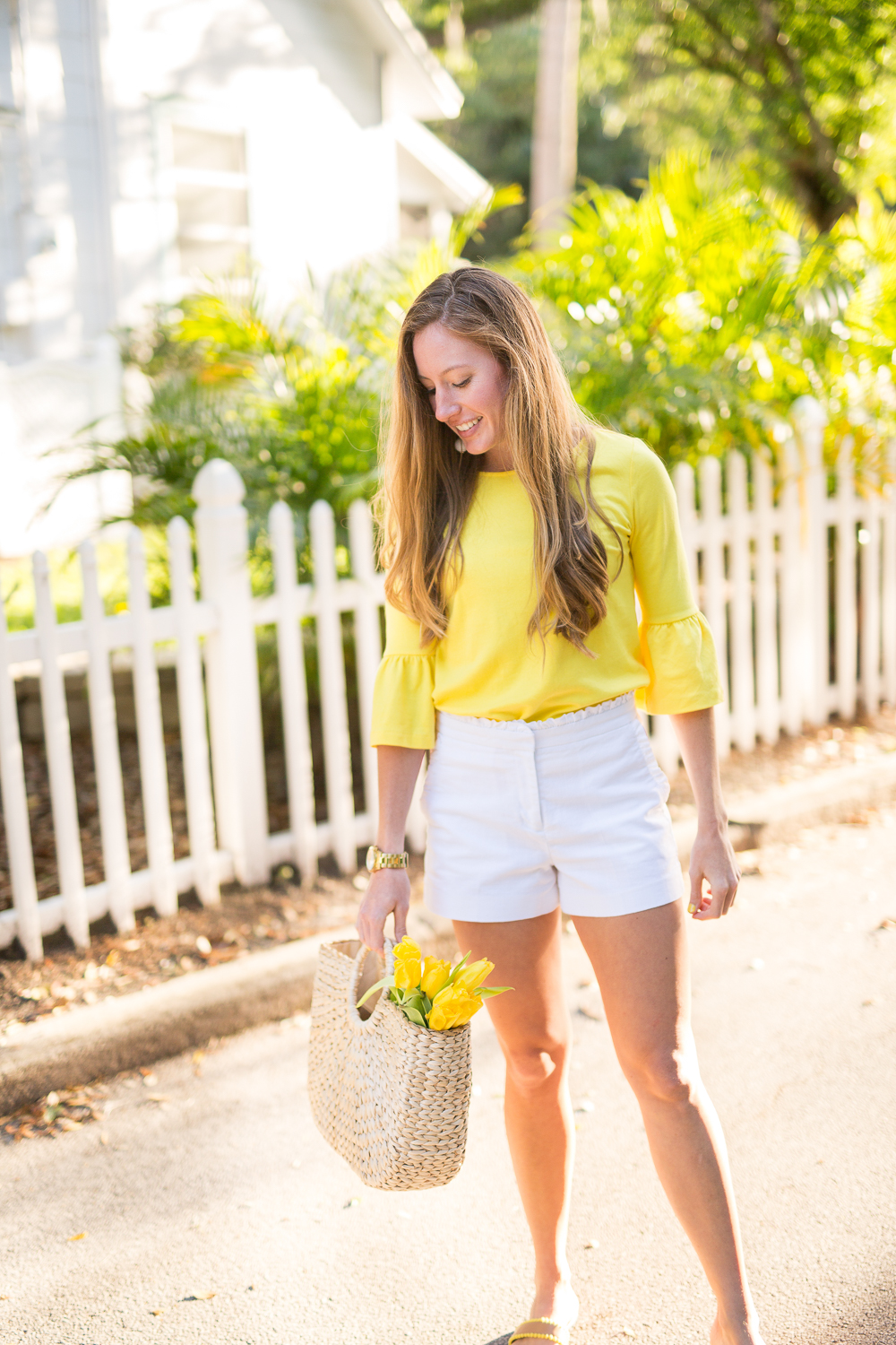 Classic Spring Outfit Idea - Yellow Top