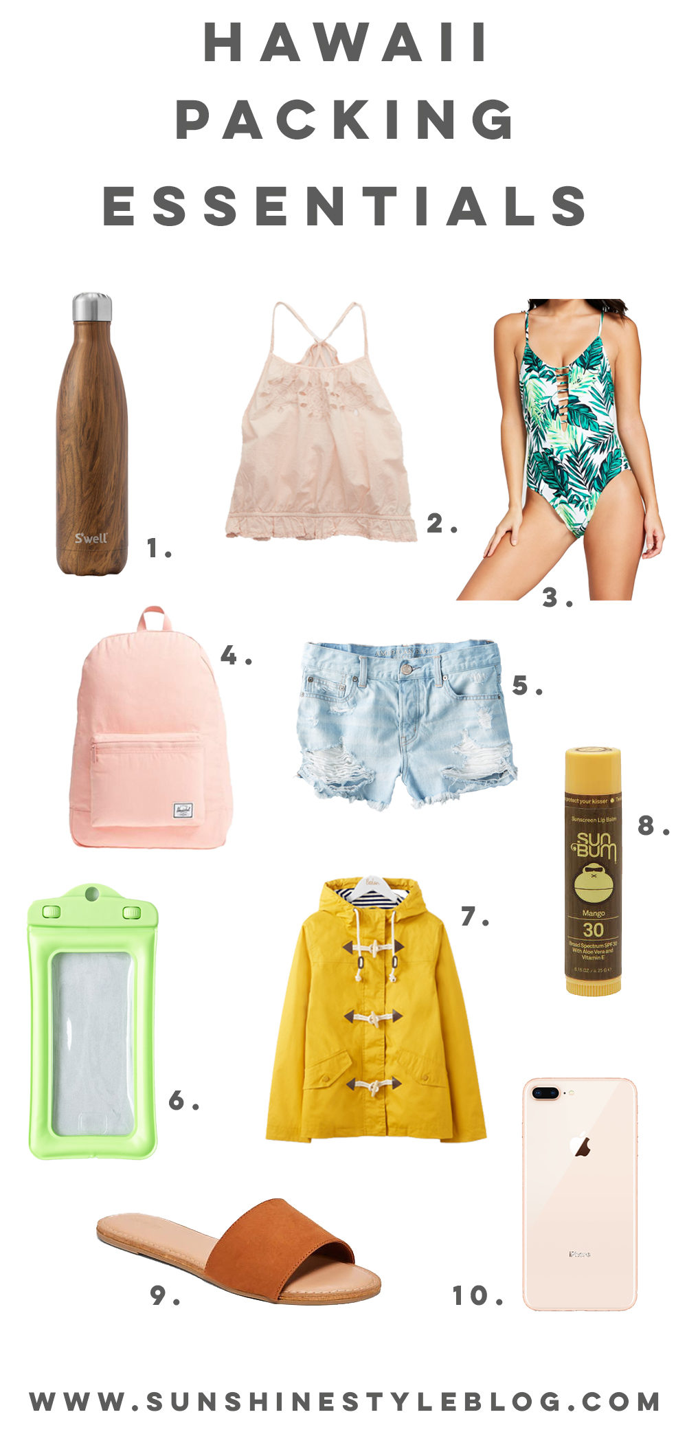 My Top 10 Hawaii Packing Essentials