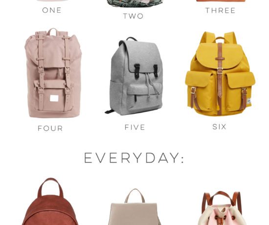 12 Stylish Backpacks for Travel and Everyday - Includes My Fav Backpack Brands from Herschel, Target, ShopBop, and Everlane