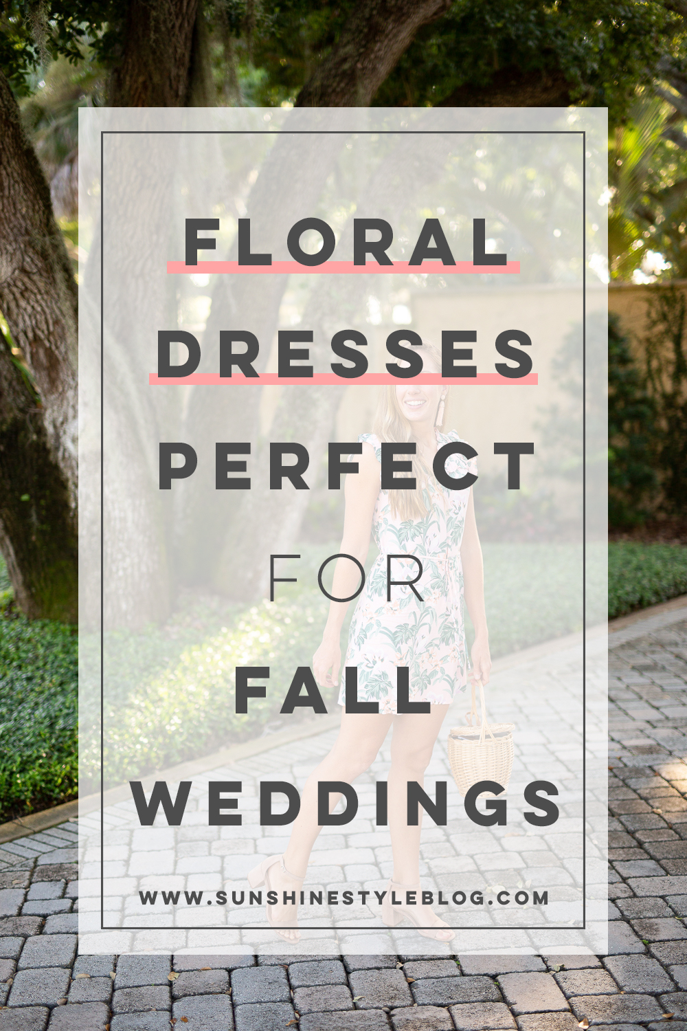 Floral Dresses Perfect for Fall Weddings | Sunshine Style