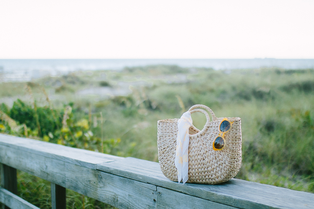 Straw Bag on Beach | Sunshine Style