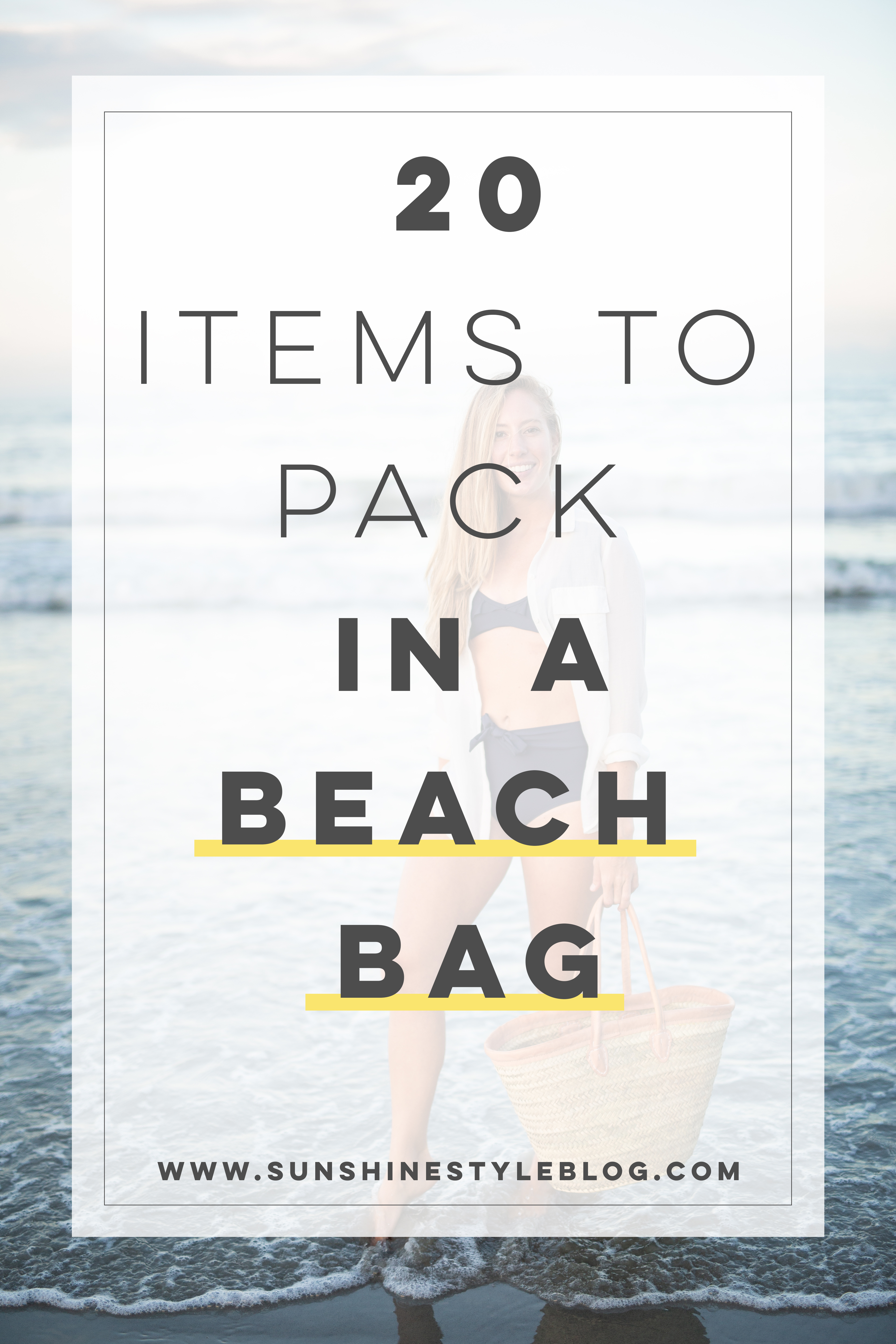 What to Pack in a Beach Bag: 20 Beach Essentials For Your Next Vacation | Sunshine Style