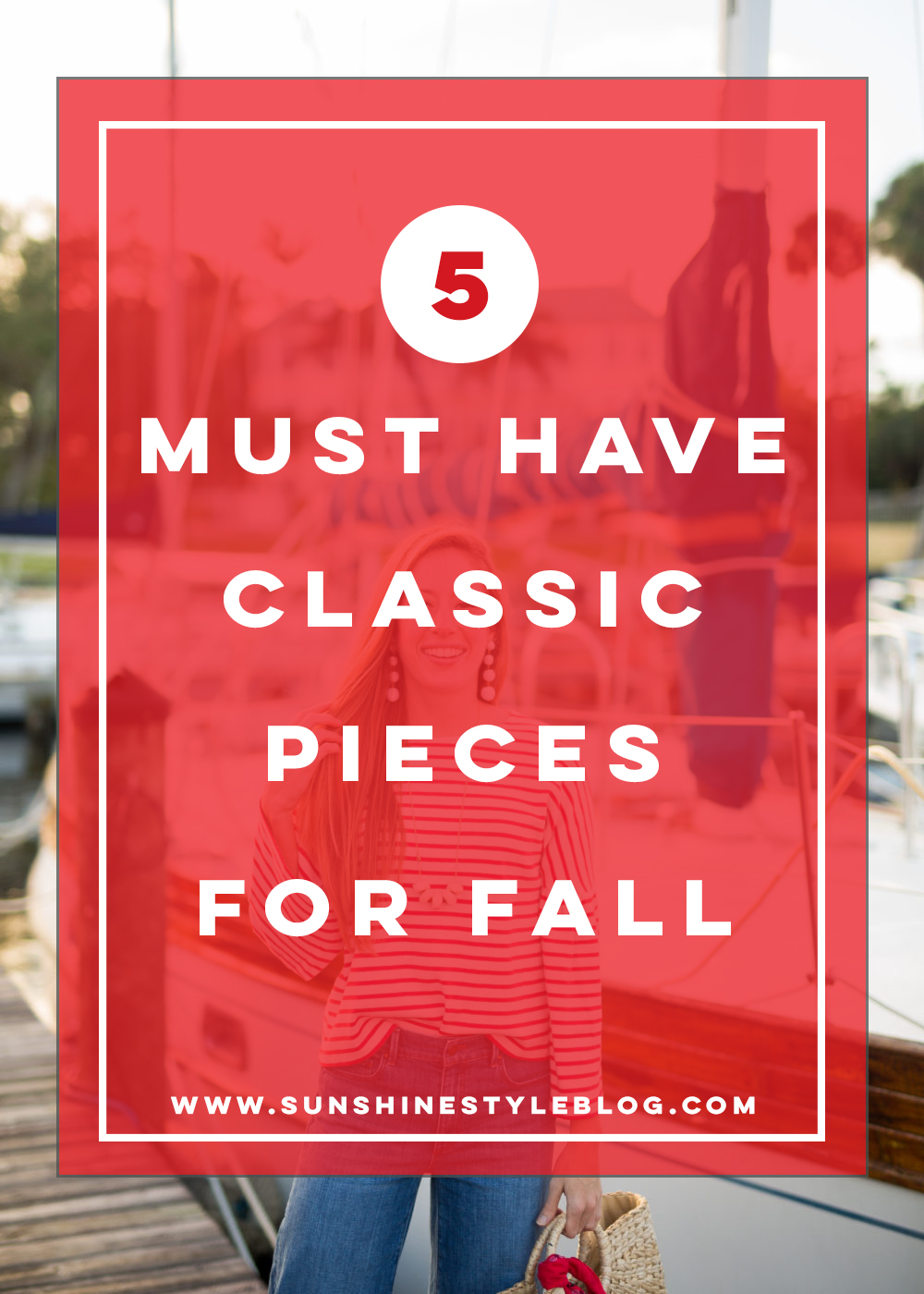 5 Must Have Classic Pieces for Fall - Classic Striped Fall Outfit, Includes striped top, wide leg pants, fall outfit inspiration | Sunshine Style