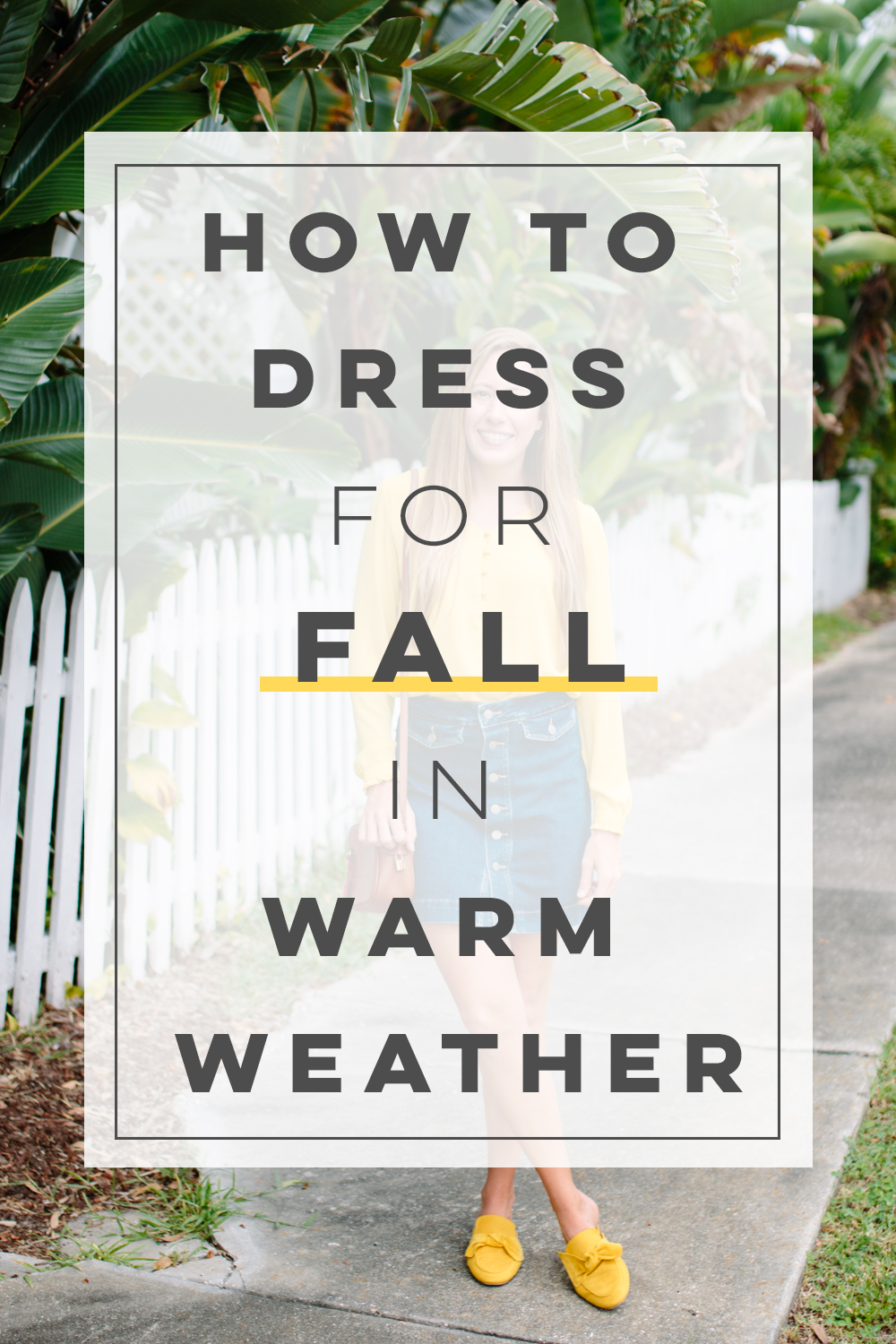 How to Dress for Fall When It's Still Warm Out | Sunshine Style