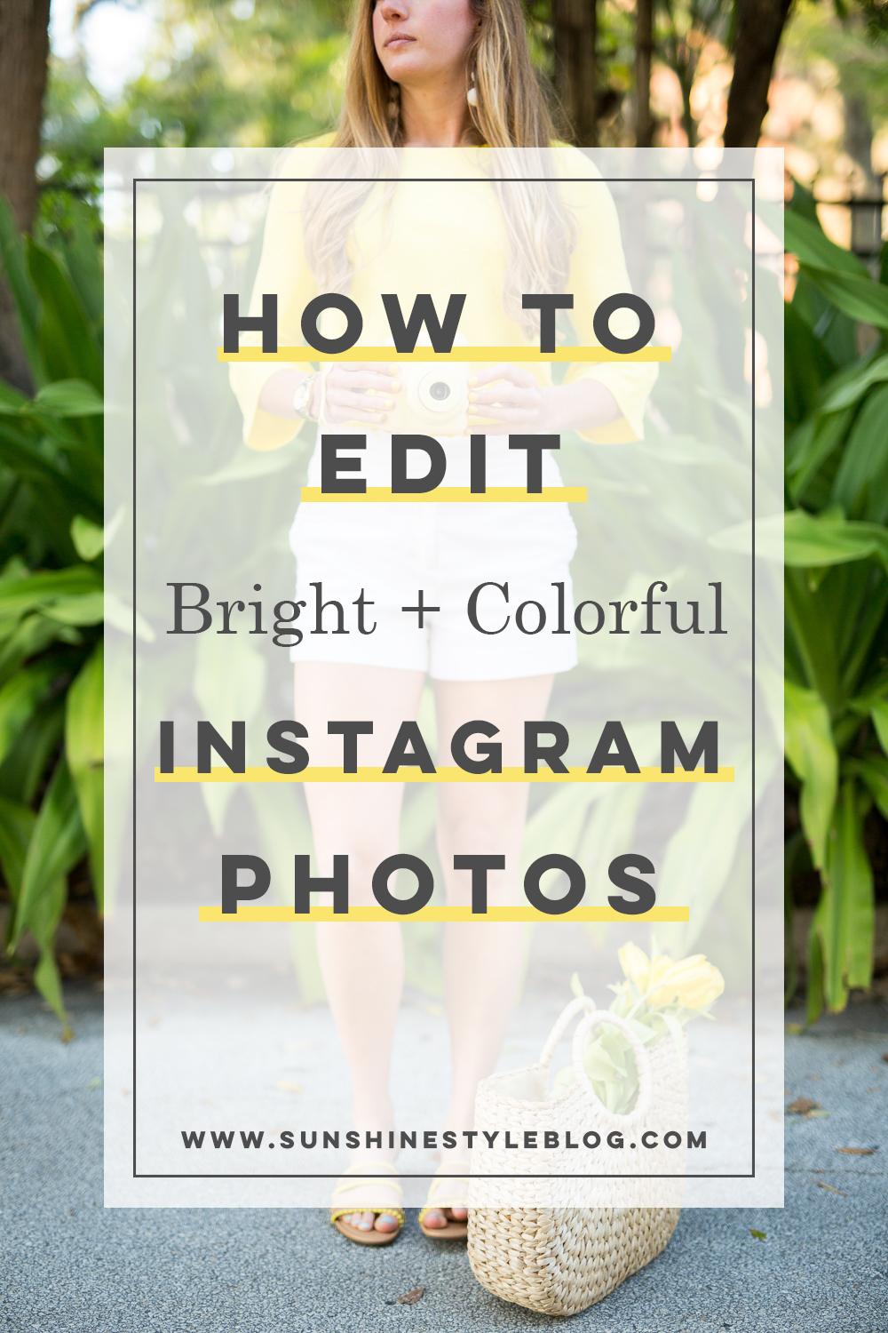 How to Edit Bright and Colorful Instagram Photos | How to Create a Consistent Instagram Feed | How to Edit Bright + Colorful Instagram Photos | How to Edit Bright and Airy Photos | How to Edit iPhone Photos for Instagram - Sunshine Style