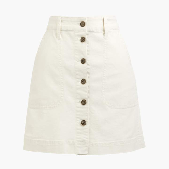 J.Crew Factory 24 Hour Flash Sale / White Button Up Skirt