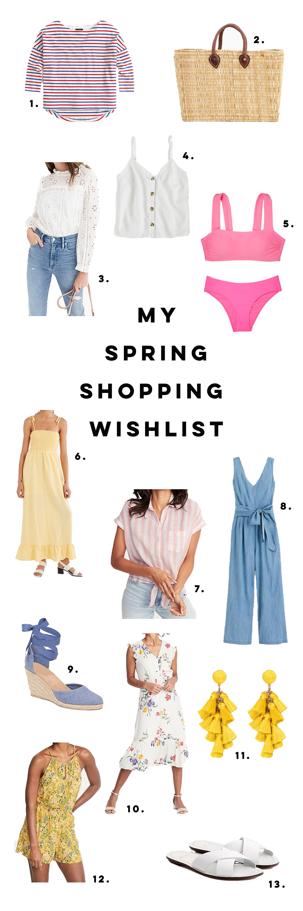 Spring Shopping Finds Under $100 / Spring Shopping Wish List / Spring Outfit Inspiration