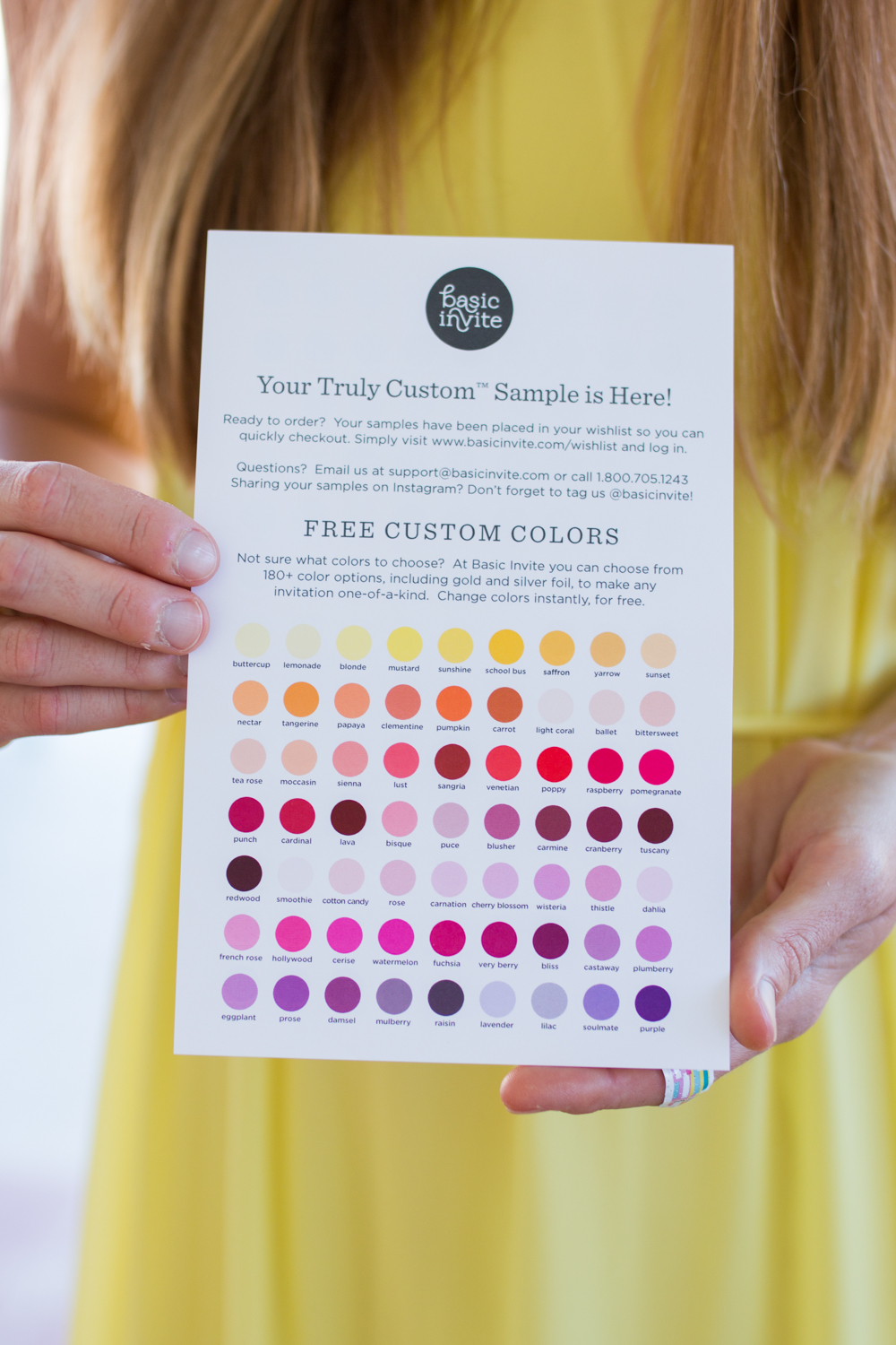 Why Customized Business Cards Are Still Important for Bloggers / Blog to Business / Basic Invite Customized Business Cards / Basic Invite Almost Unlimited Colors - Sunshine Style