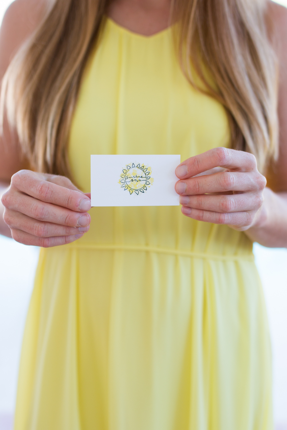 Why Customized Business Cards Are Still Important for Bloggers / Blog to Business / Basic Invite Customized Business Cards - Sunshine Style