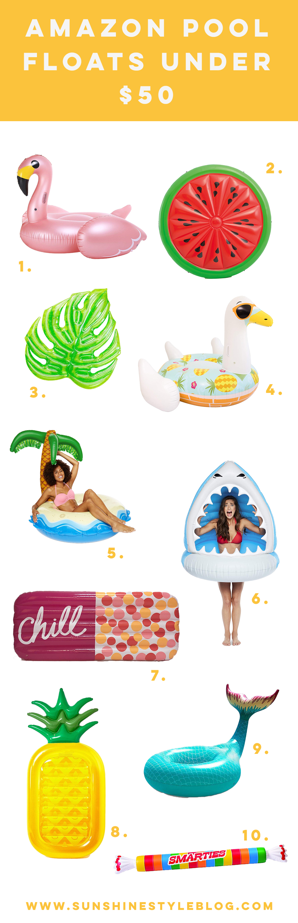 Amazon Pool Floats Under $50 | Summer Pool Floats | Flamingo Pool Float | Best Pool Floats 2019 - Sunshine Style