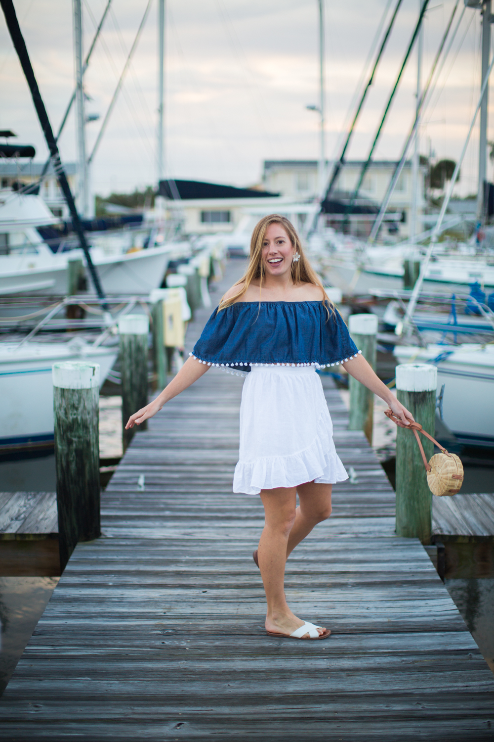 What to Wear on a Summer Beach Vacation | Summer Beach Outfit Idea | Beach Vacation Outfit | Cruisewear | What to Pack for your Summer Beach Vacation | Beachwear for Women - A Nautical Inspired Summer Beach Outfit by Katie McCarty of Sunshine Style