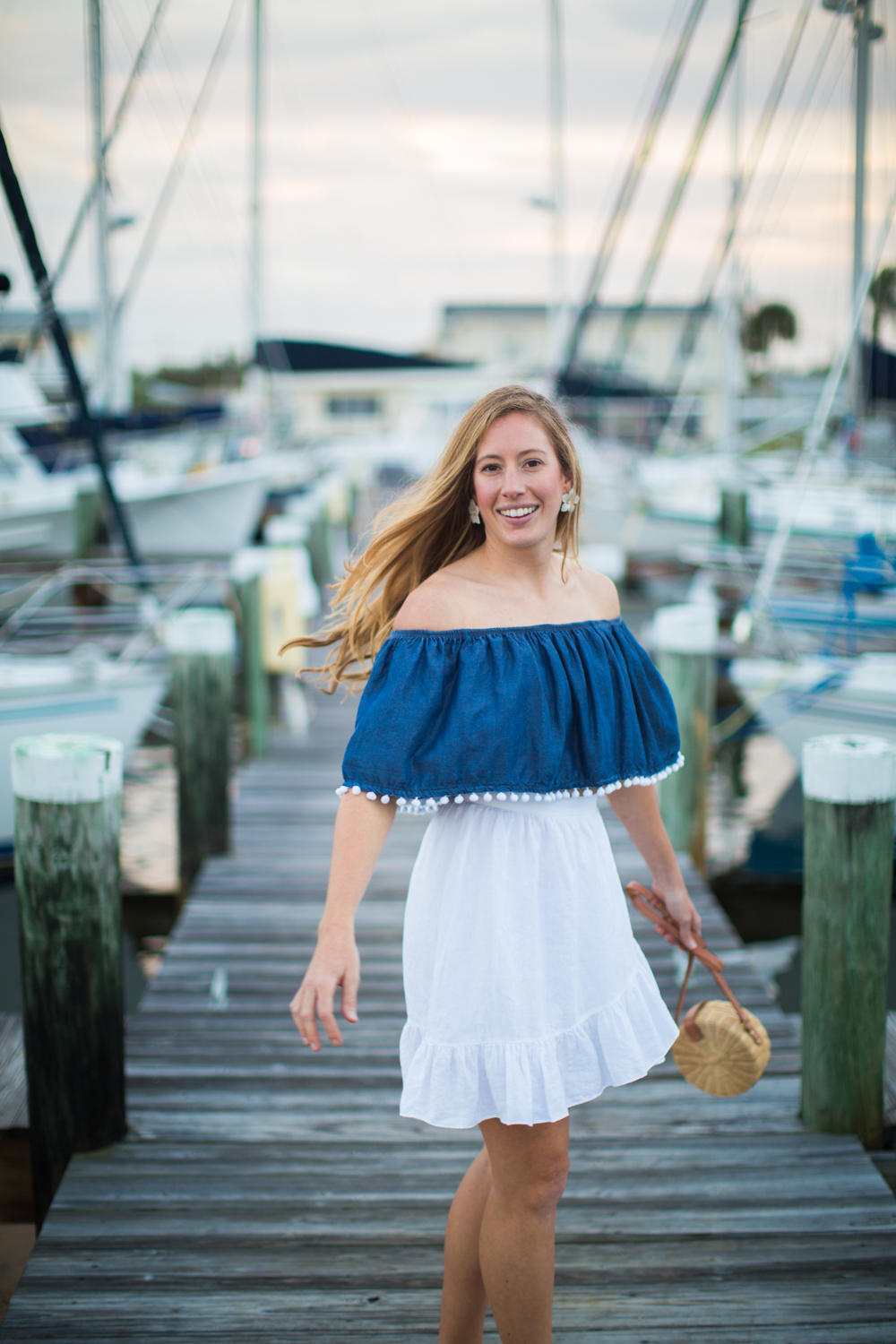 What to Wear on a Beach Vacation | Summer Beach Outfit Idea | Beach Vacation Outfit | Cruisewear | What to Pack for your Summer Beach Vacation | Beachwear for Women - A Nautical Inspired Summer Beach Outfit by Katie McCarty of Sunshine Style