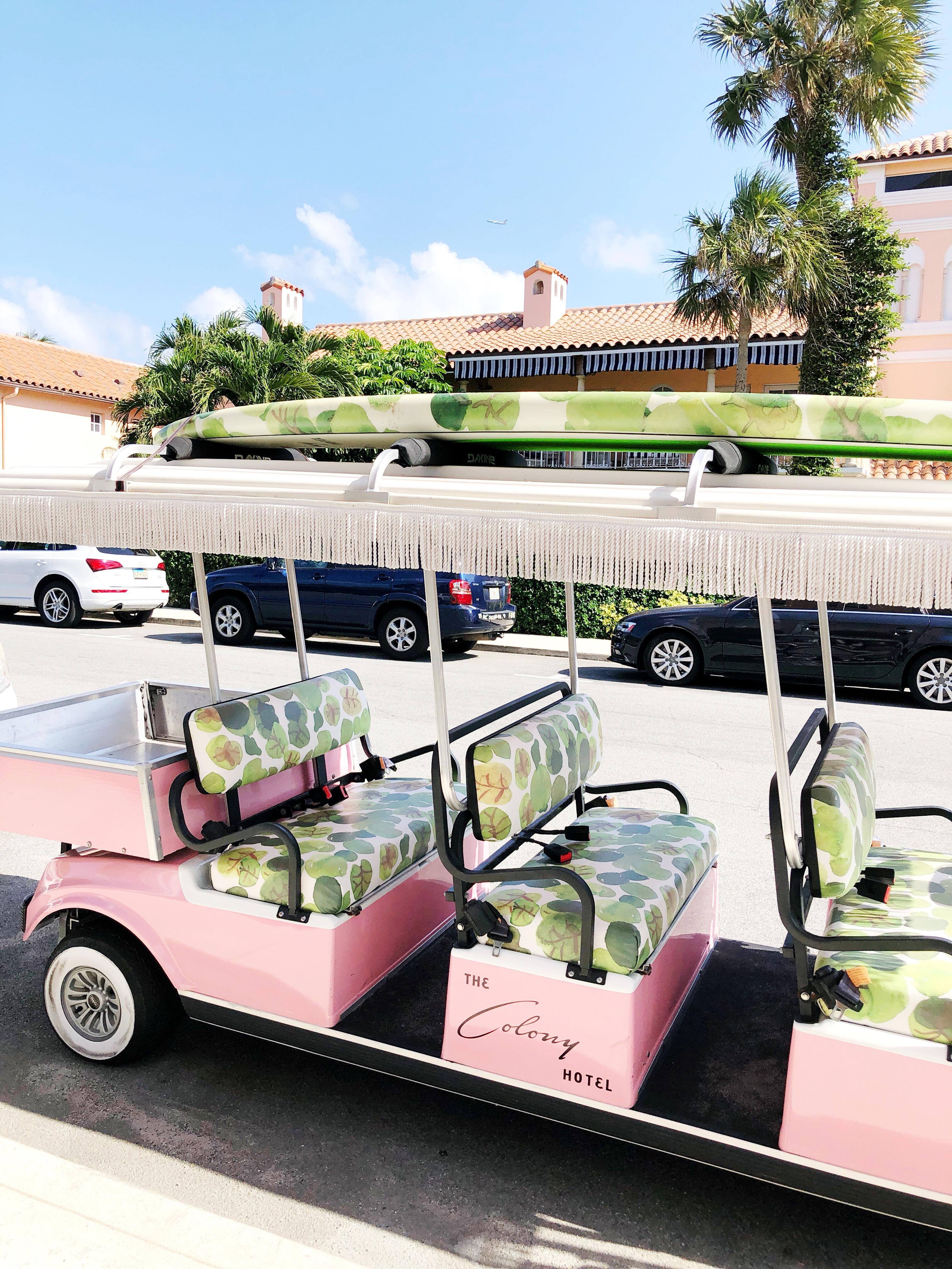 The Colony Hotel Golf Cart Palm Beach, Florida / West Palm Beach, Florida / Coastal and Beach Town - Sunshine Style