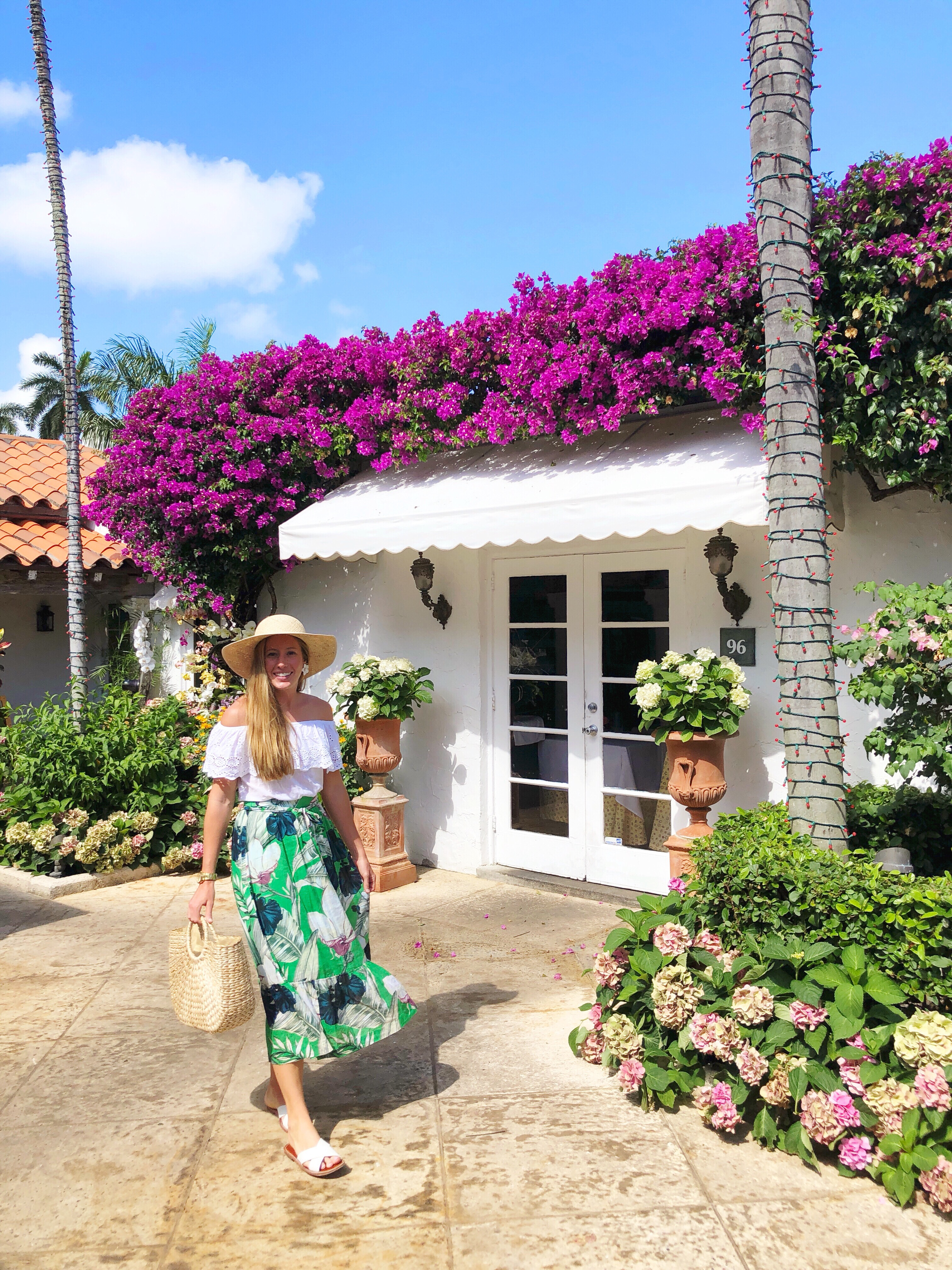 A Tropical Outfit for Palm Beach, Florida / What to Wear on a Beach Vacation / What to Wear in Palm Beach / How to Wear a Maxi Skirt / West Palm Beach, Florida - Sunshine Style