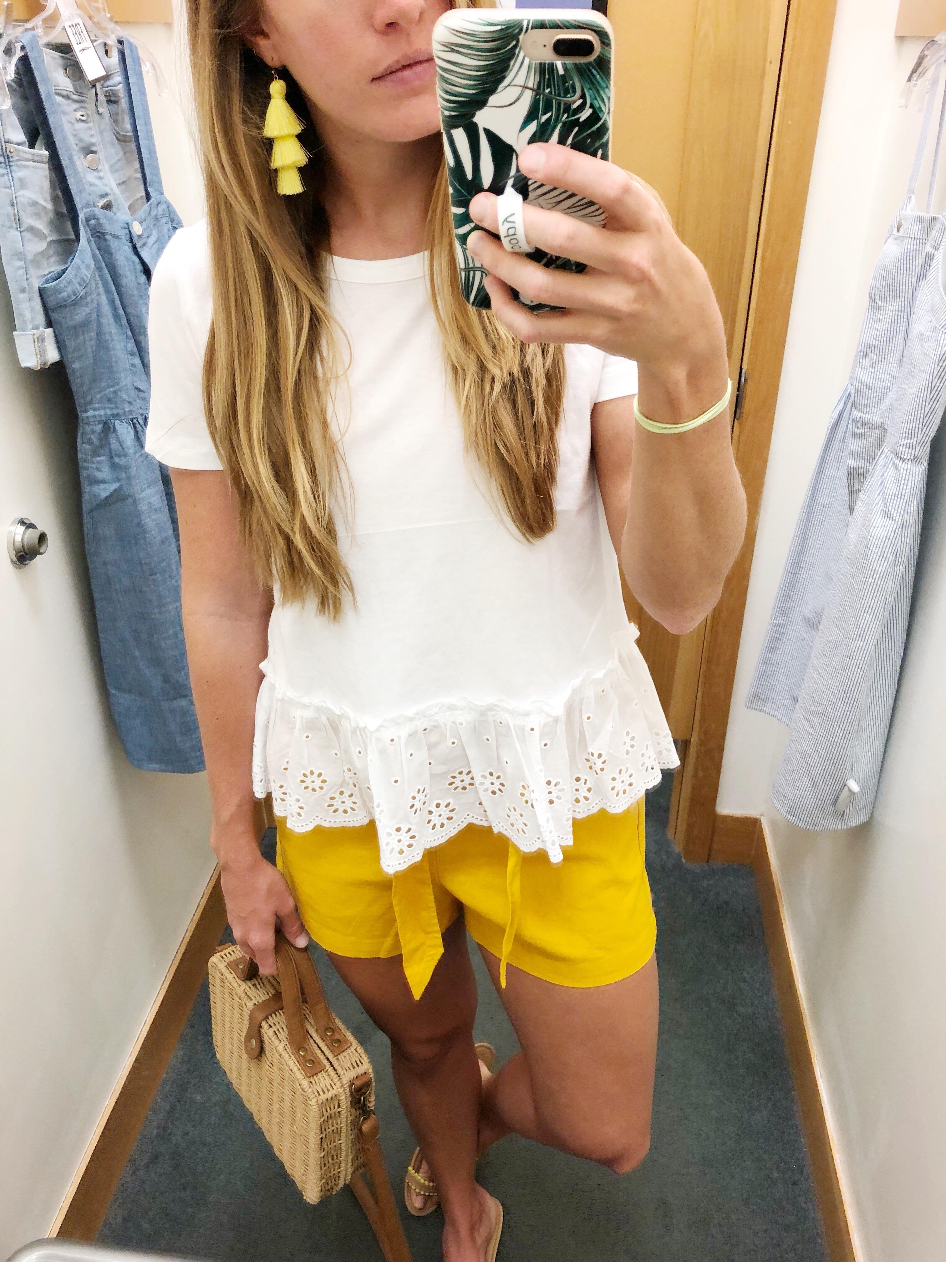 White Peplum Top J.Crew Factory / Sunshine Style - A Florida Fashion Blog