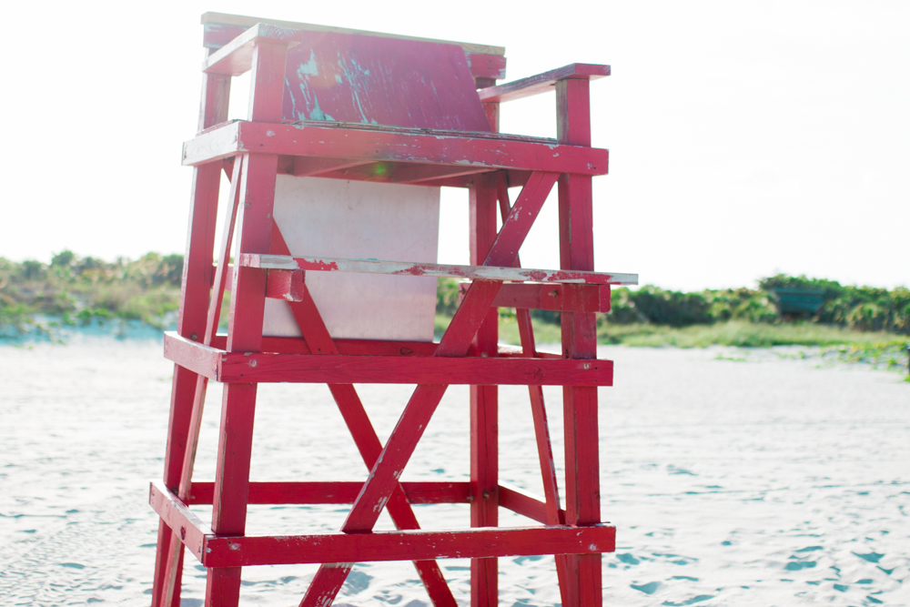 Red Lifeguard Tower