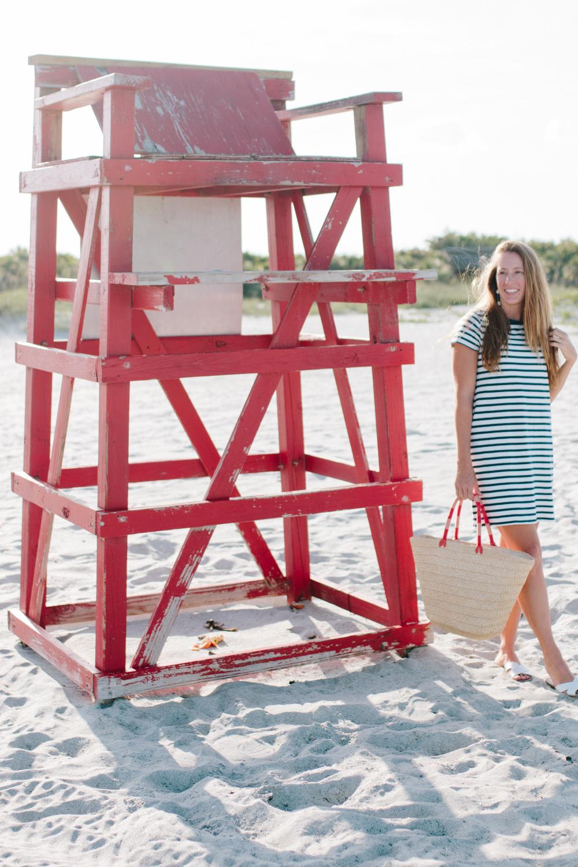 J.Crew Factory Striped T-Shirt Dress - Sunshine Style