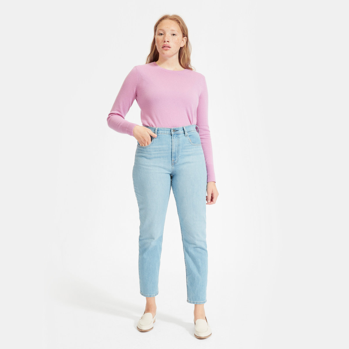 Everlane Choose What You Pay / Cashmere Crew Sweater - Sunshine Style, A Florida Based Fashion Blog