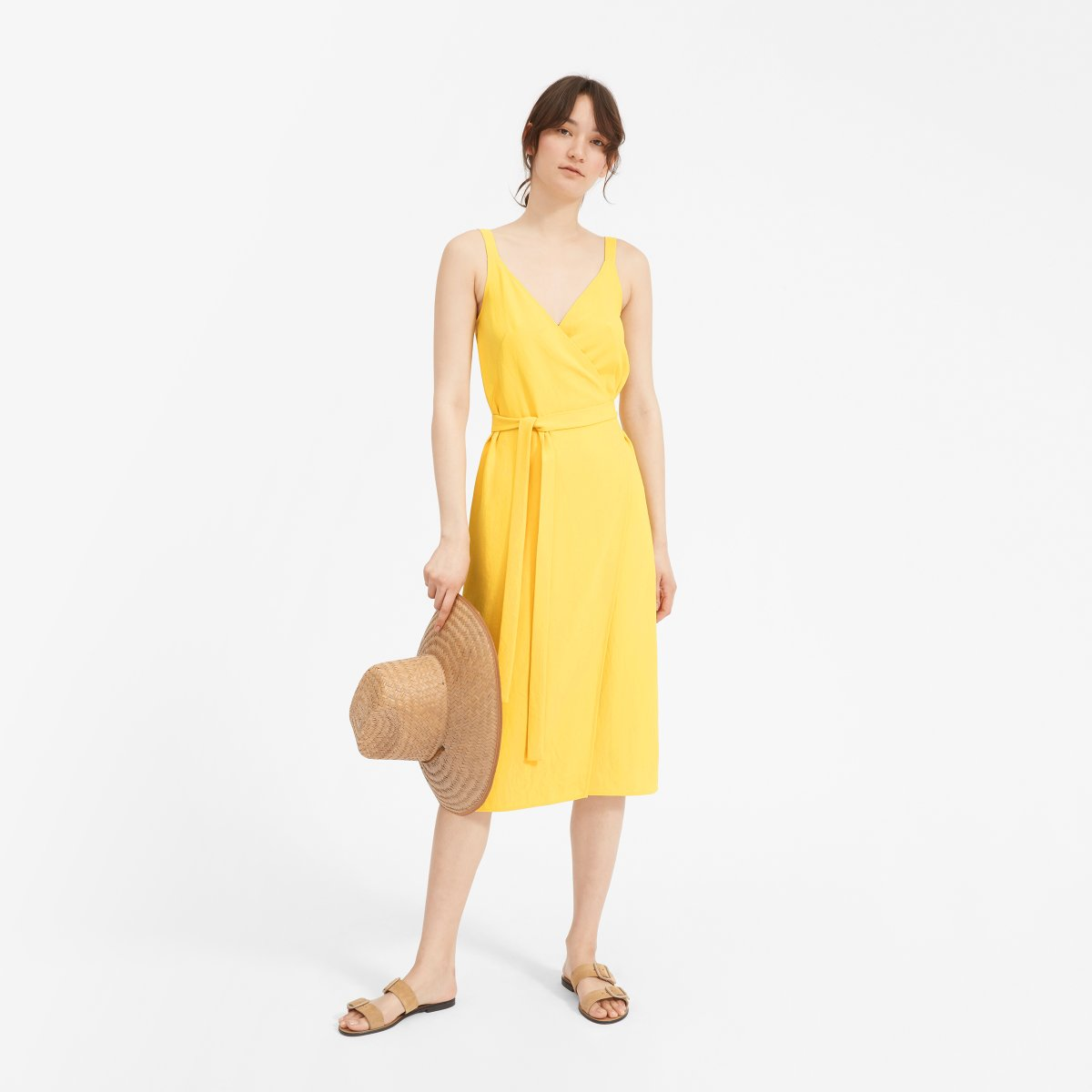 Everlane Choose What You Pay / Yellow Wrap Dress - Sunshine Style, A Florida Based Fashion Blog