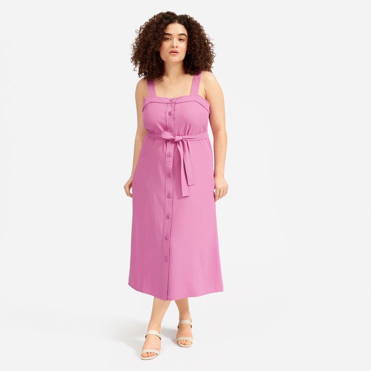 Everlane Choose What You Pay / Magenta Dress - Sunshine Style, A Florida Based Fashion Blog