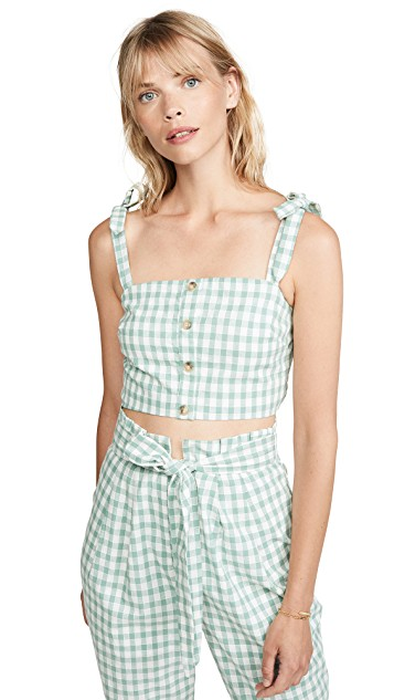 Green Gingham Top - Sunshine Style