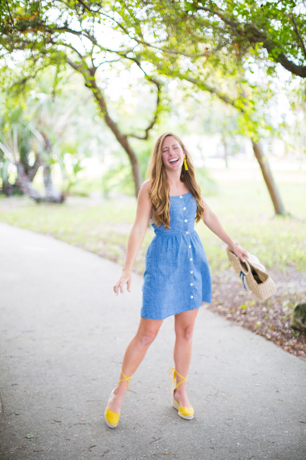 Affordable Chambray Button Up Dresses for Summer, J.Crew Button Up Dress - Sunshine Style, A Florida Fashion Blog