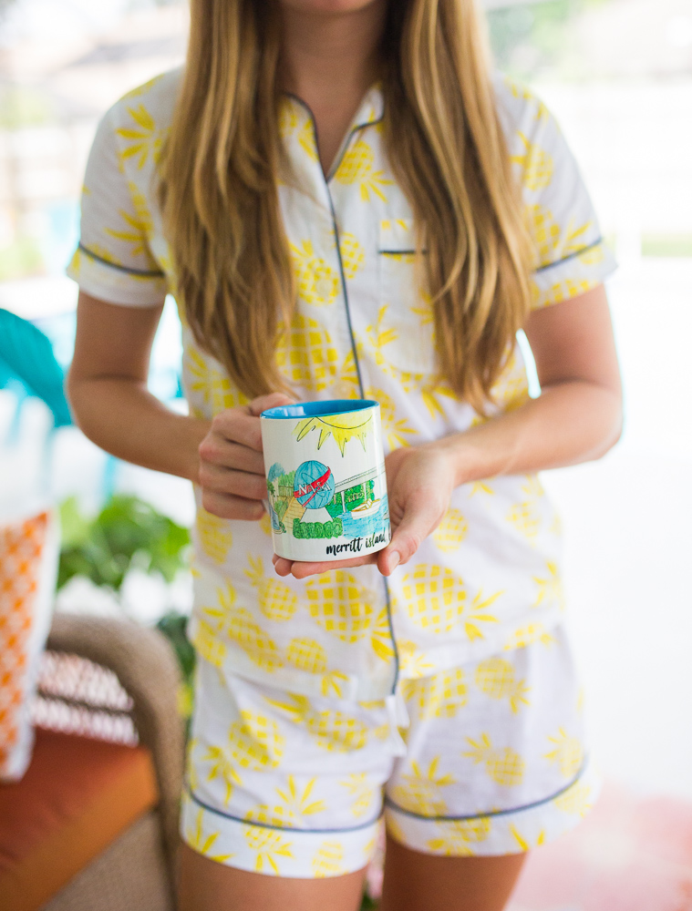 An Easy Way to Add Happiness to Someones Day / How to Add Joy to Someones Day / Island Haus Co. / Greeting Cards / Matching Pineapple Pajama Pants / Sunshine Style, A Florida Based Lifestyle and Fashion Blog