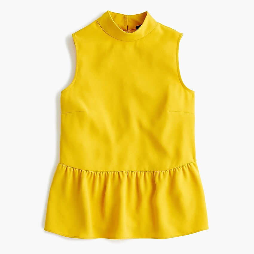 Gold J.Crew Peplum Top / Fall Trends- Sunshine Style, A Florida Based Fashion Blog