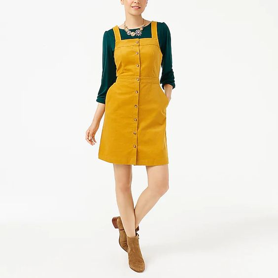 J.Crew Factory Corduroy Button Down Dress / Fall Trends- Sunshine Style, A Florida Based Fashion Blog