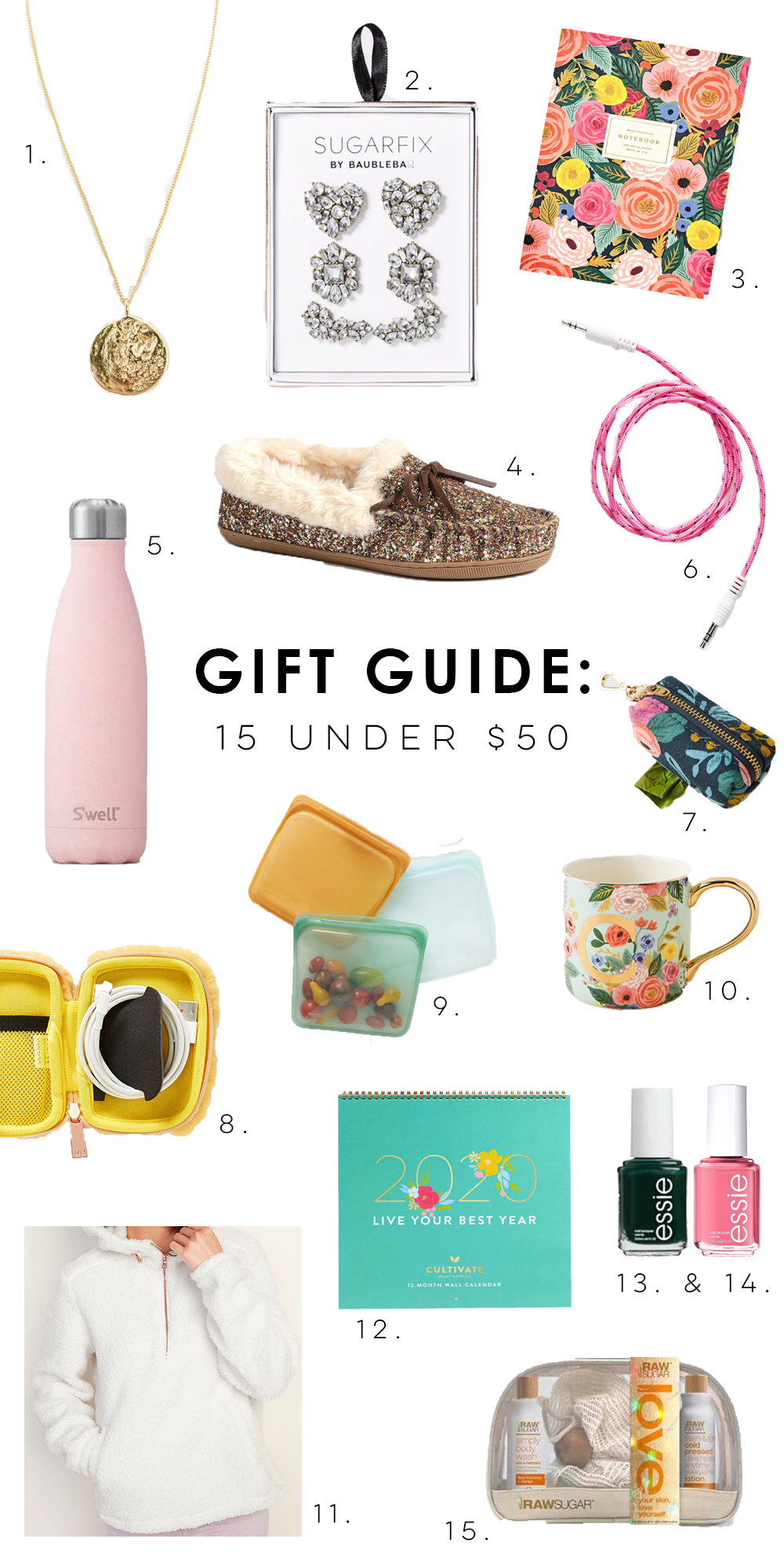 Girly Gift Guide for Her: 15 Under $50 / The Ultimate Gift Guide For Your BFF / Christmas Gift Ideas - Sunshine Style