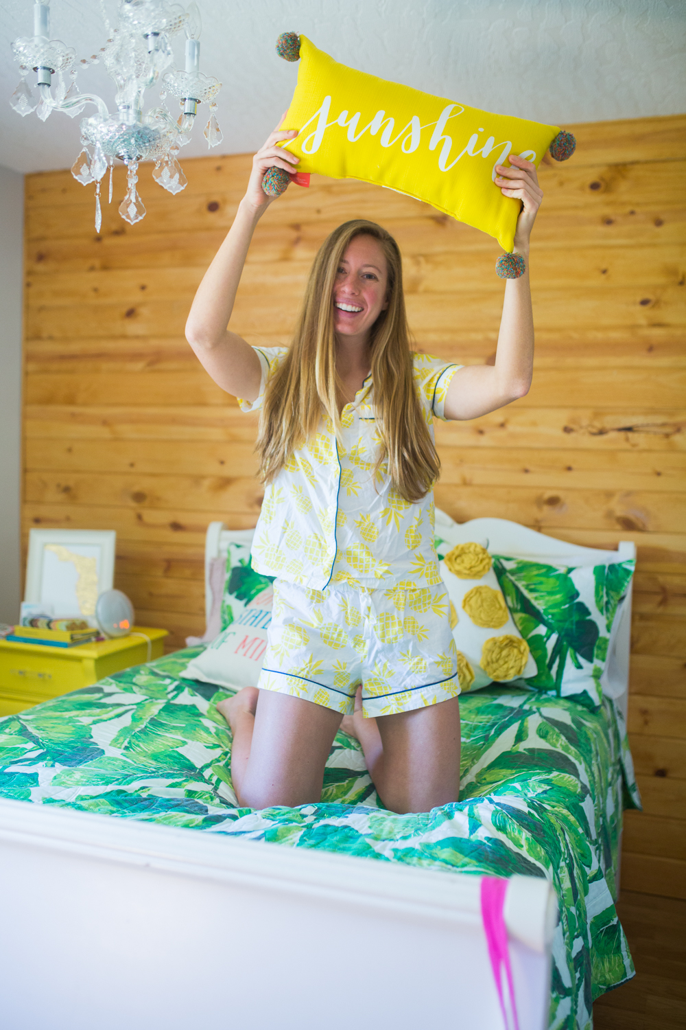 My Simple Morning Routine / How to Create Your Dream Morning Routine / How to Create Your Own Simple Morning Routine / Easy Morning Routine / Productive Morning Routine / Tips for a Productive Morning Routine / Matching Pajama Set / J.Crew Factory Matching Pajamas / Tropical Bedroom Inspiration - Sunshine Style, A Florida Fashion Blog by Katie McCarty