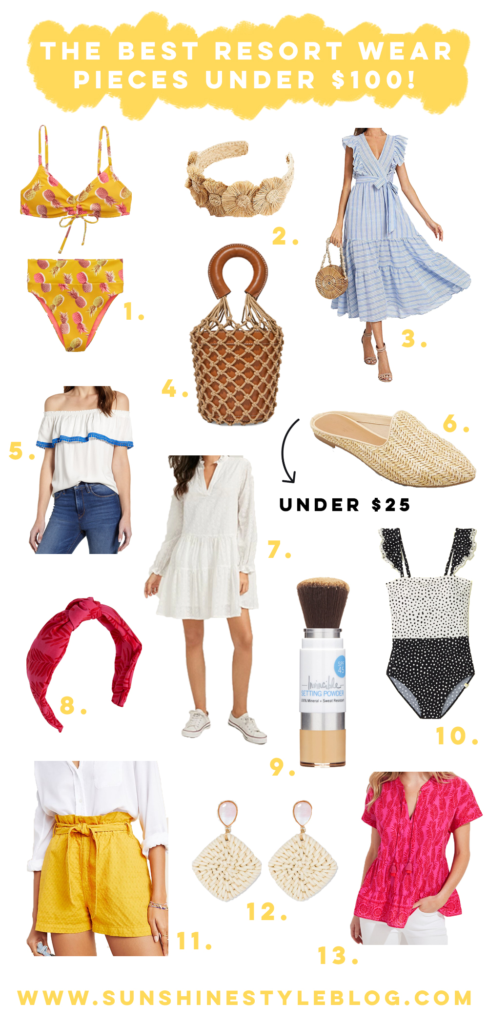 Resort Wear Pieces Under $100 / What to Wear for Spring Break / What to Wear on a Beach Vacation / Warm Weather Getaway / Resort Wear 2020 / Amazon Dress / Raffia Accessories / Straw Bag / Beach Cover Up / Florida Fashion Finds / What to Wear in March in Florida - Sunshine Style, A Florida Based Fashion Blog by Katie McCarty