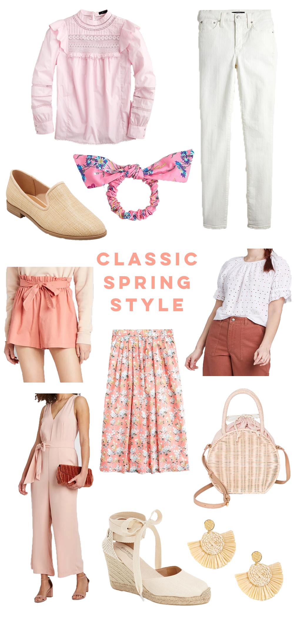Classic Spring Wardrobe Essentials / Classic Spring Finds / Classic Wardrobe / Classic Essentials / Spring Style Essentials / White Denim / Blouse / Floral Skirts - Sunshine Style, Florida Based Fashion Blog